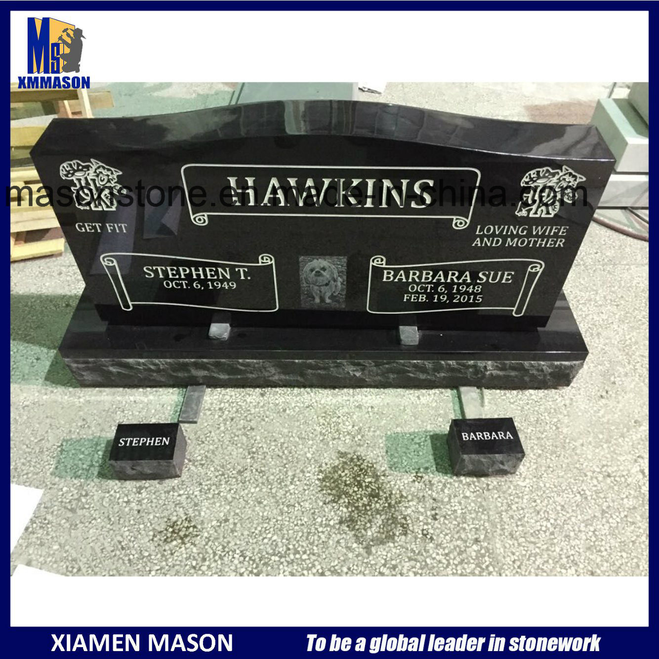 Wholesale Cheap Upright Granite Headstones for Cemetery pictures & photos