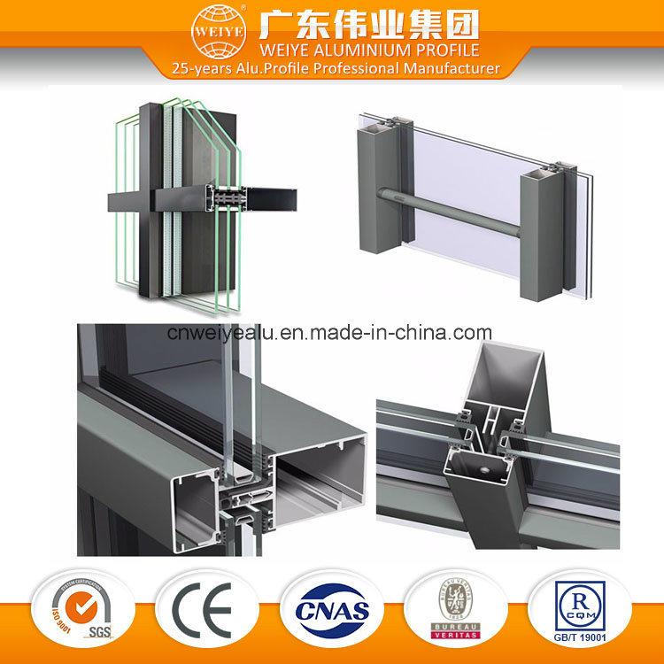 China Invisible Aluminum Frame Exterior Aluminium Curtain Wall ...