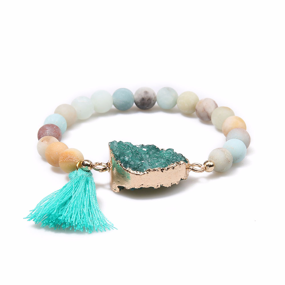 colored bracelet boho style with stone antique product