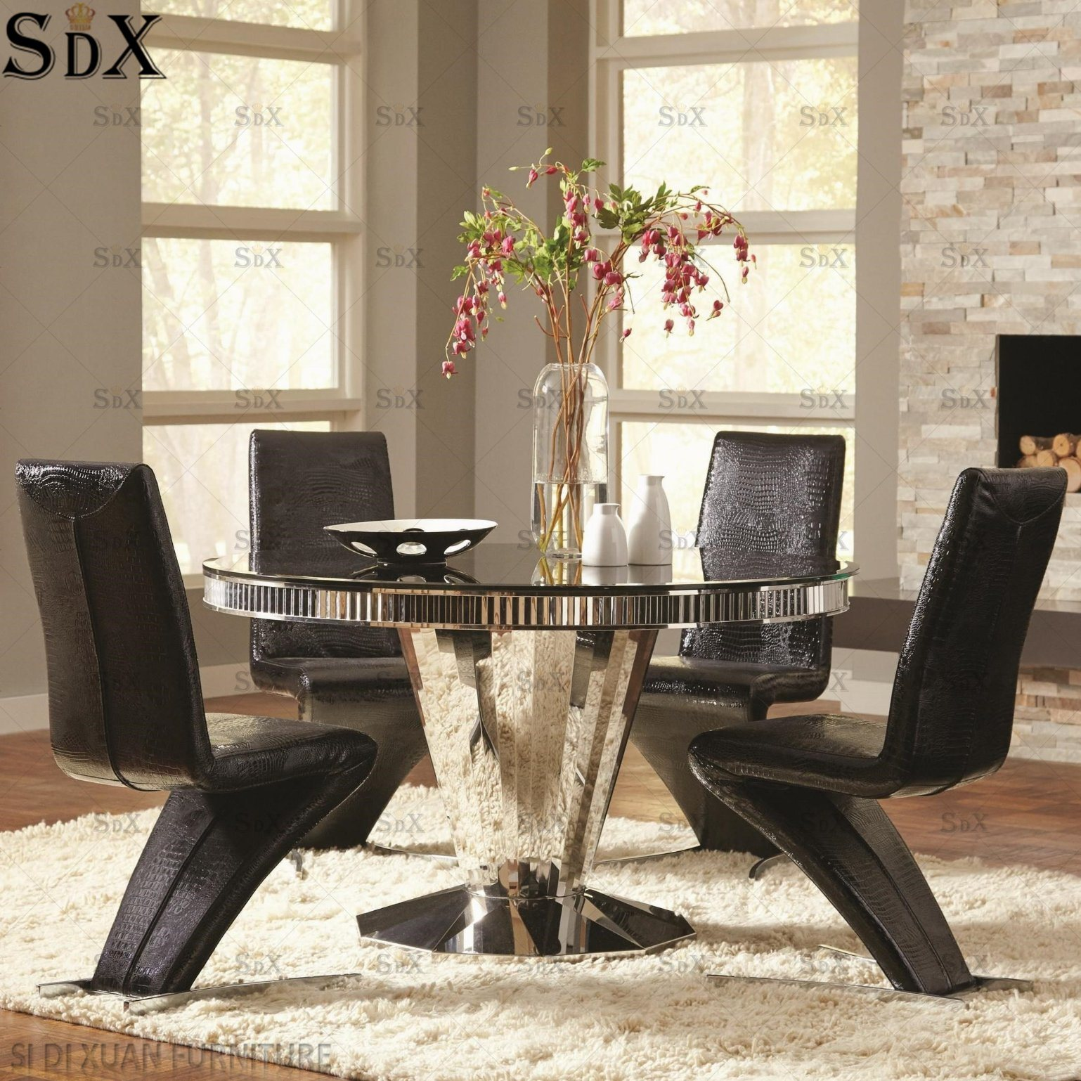 Hot Item Wholesale Modern Home Furniture Table Dining Room Set Round Dining Table