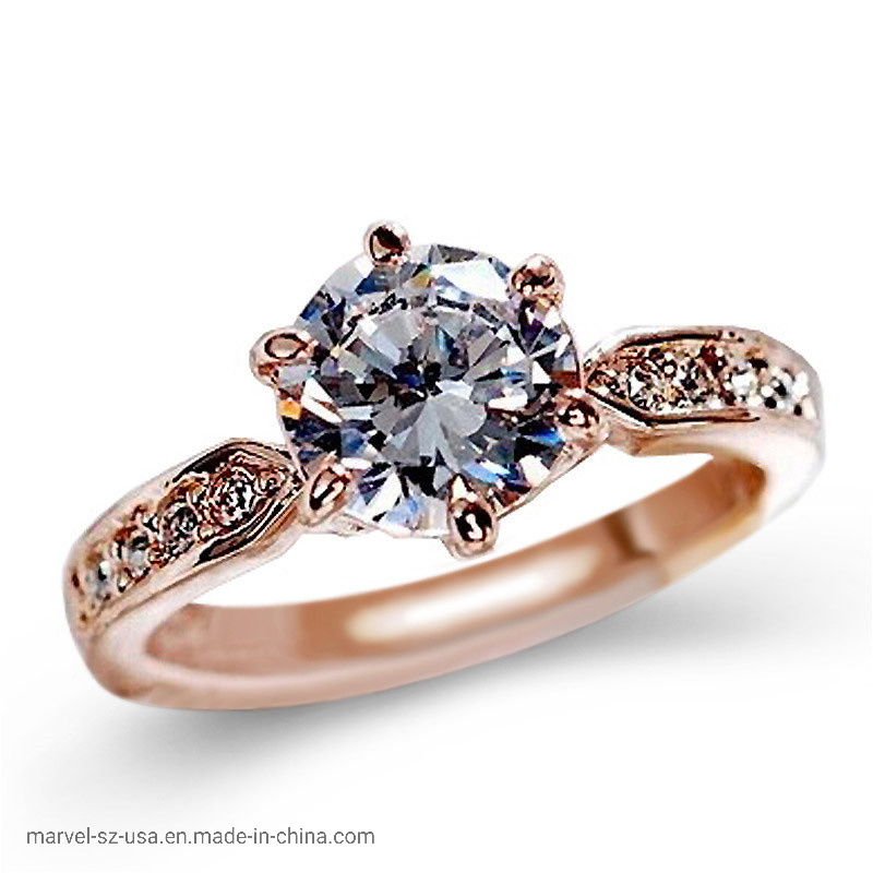 High Quality Zircon Engagement Rings Women Fashion Jewelry Wedding Ring pictures & photos