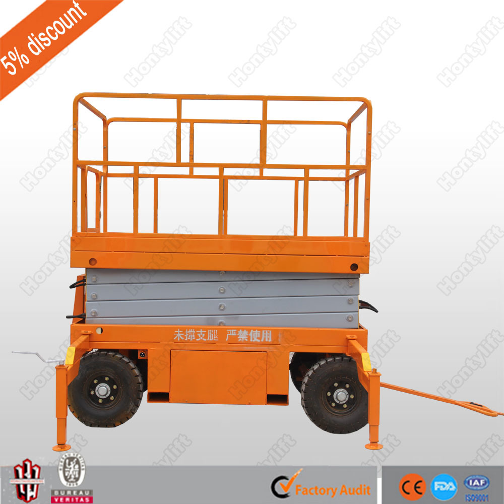 4-20m Hydraulic Mobile Scissor Lift with Ce pictures & photos
