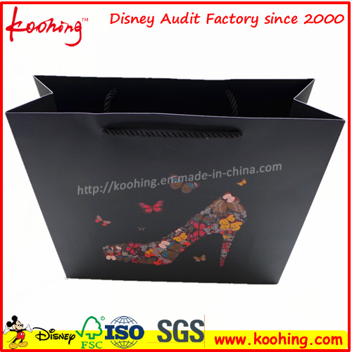 Lamination Customized Cosmetic Paper Gift Bag From China Factory