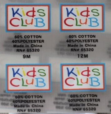 Neck Stickers Care Labels Heat Transfer Stickers for Garments pictures & photos