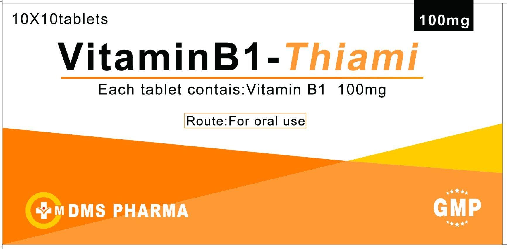 China Manufacturer Gmp Certificate Thiamine Tablet China Vitamin