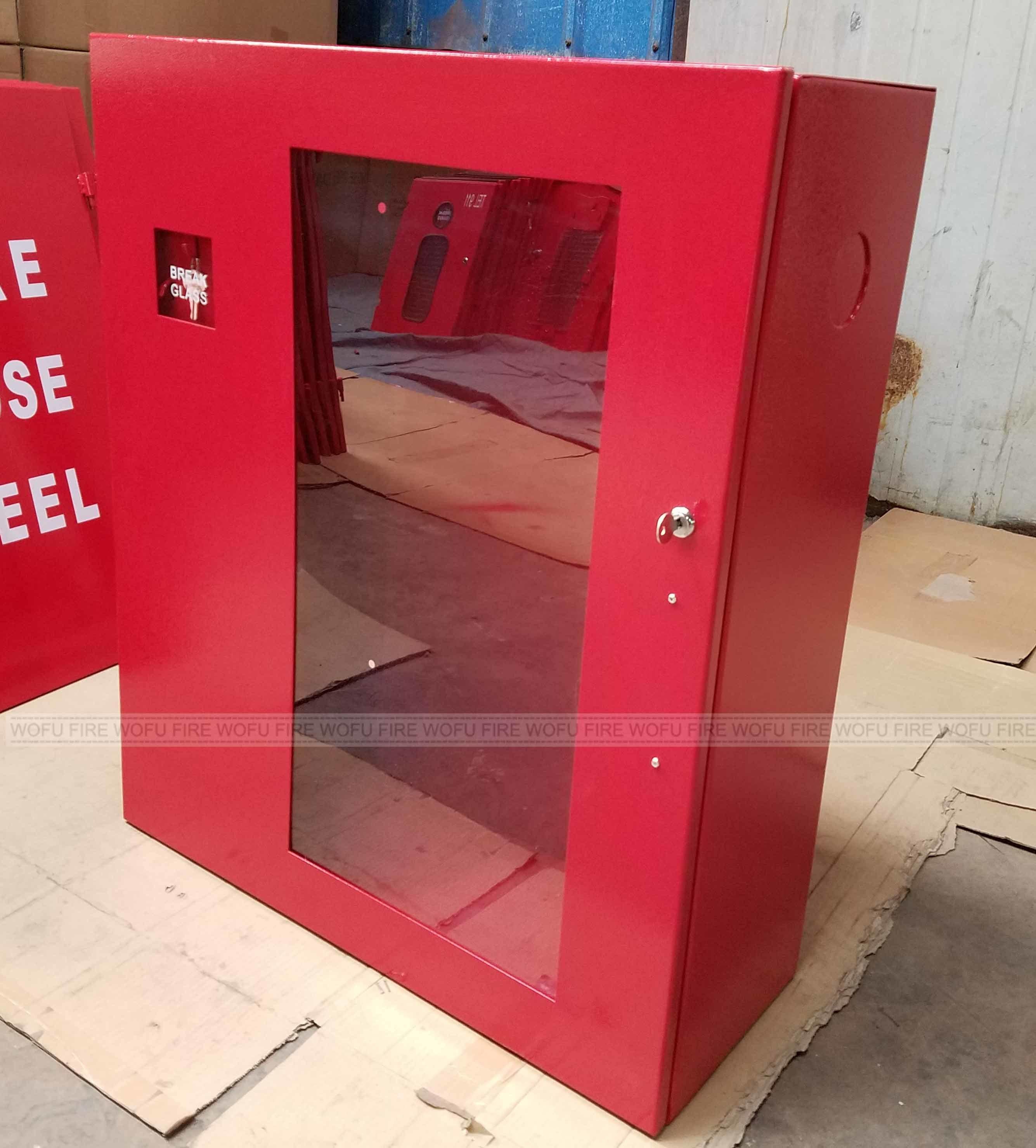 China Mild Steel Hose Reel Box Fire Fighting Cabinet