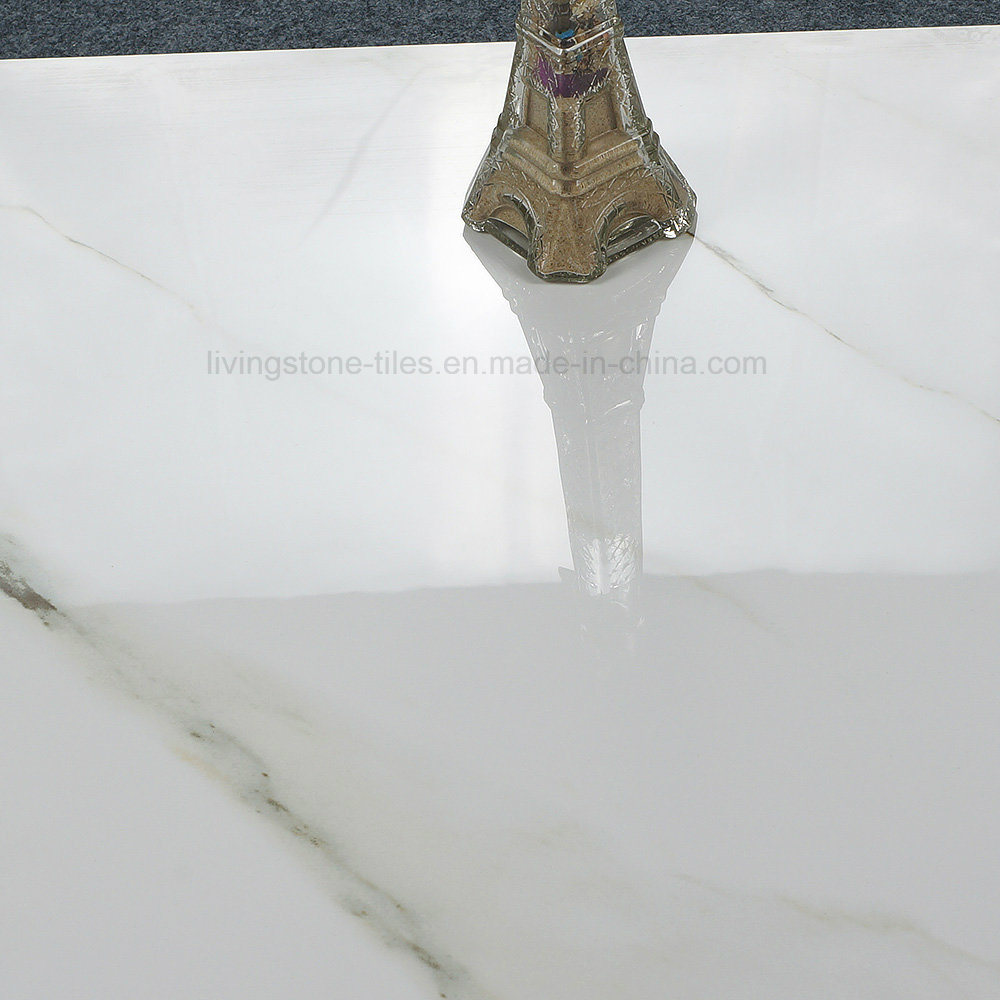 Carara White Polished Glazed Marble Stone Floor Tile for Building Material