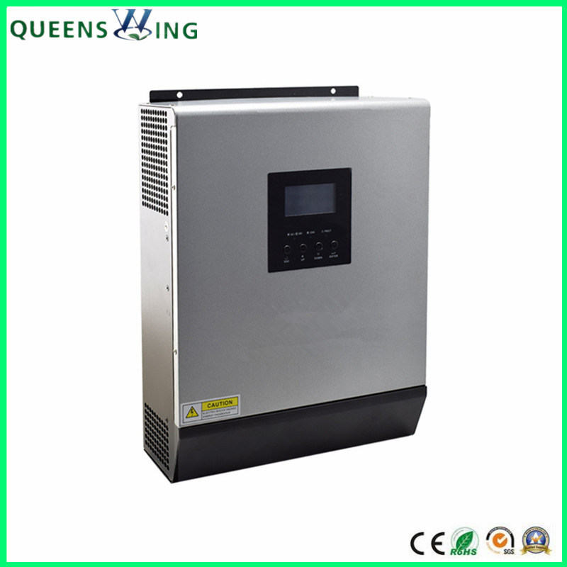 Hybrid Inverter 3KVA 2400W High Frequency Pure Sine Wave Inverter Built in 50A 24V Solar Charge Controller