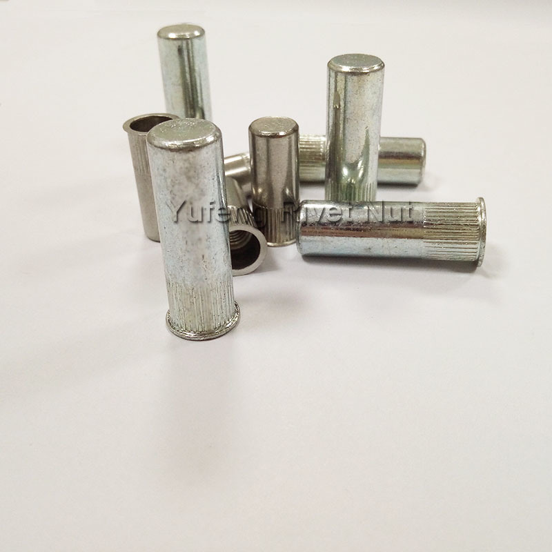 Small Head Knurled Body Rivet Nut with Carbon Steel and Stainless Steel