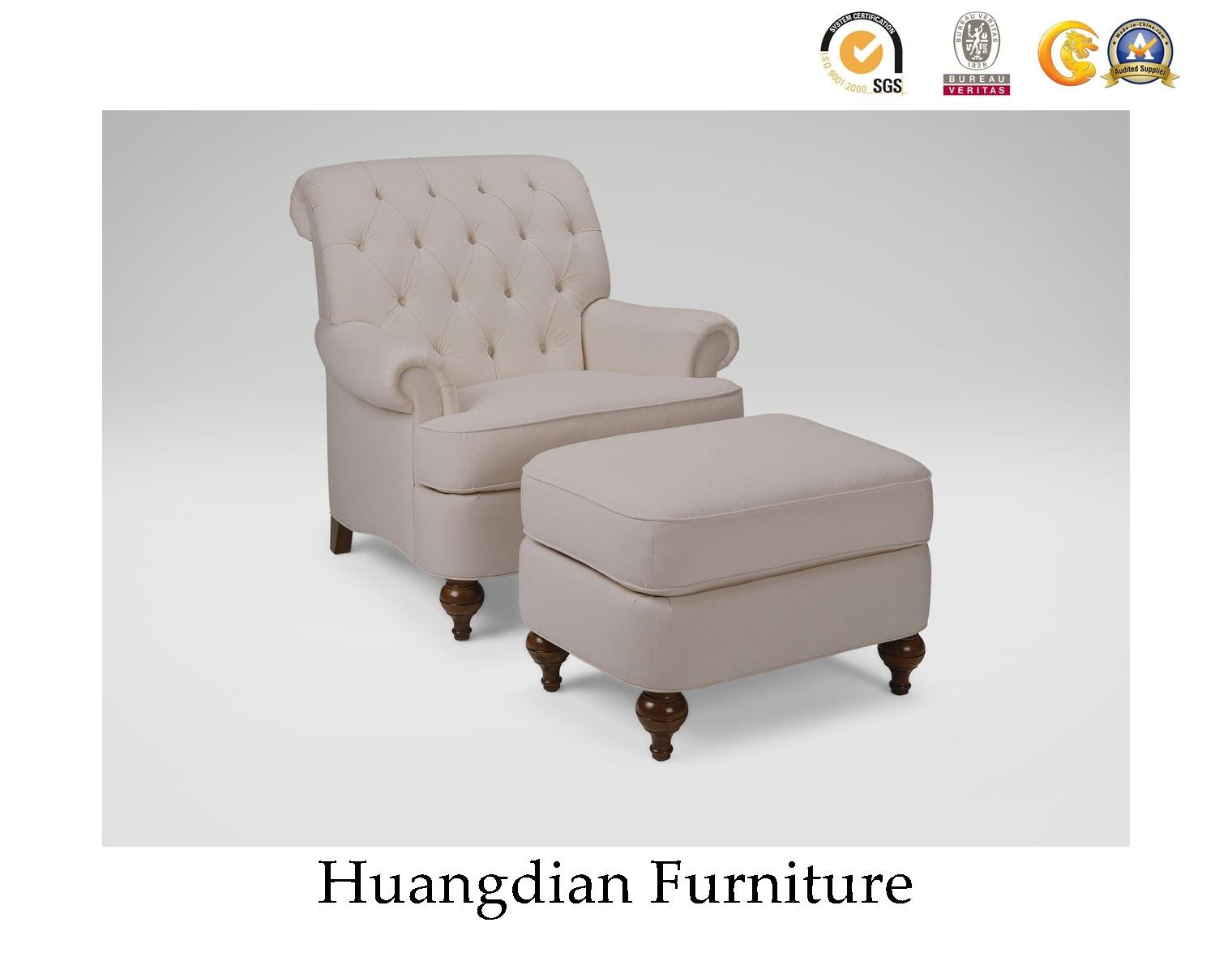 Sofa Furniture Tufted Armchair Wooden Sofa Chair HD741
