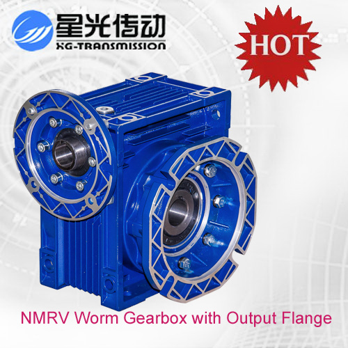 [Hot Item] Nmrv050 Worm Gear Motor Reducer with Output Flange