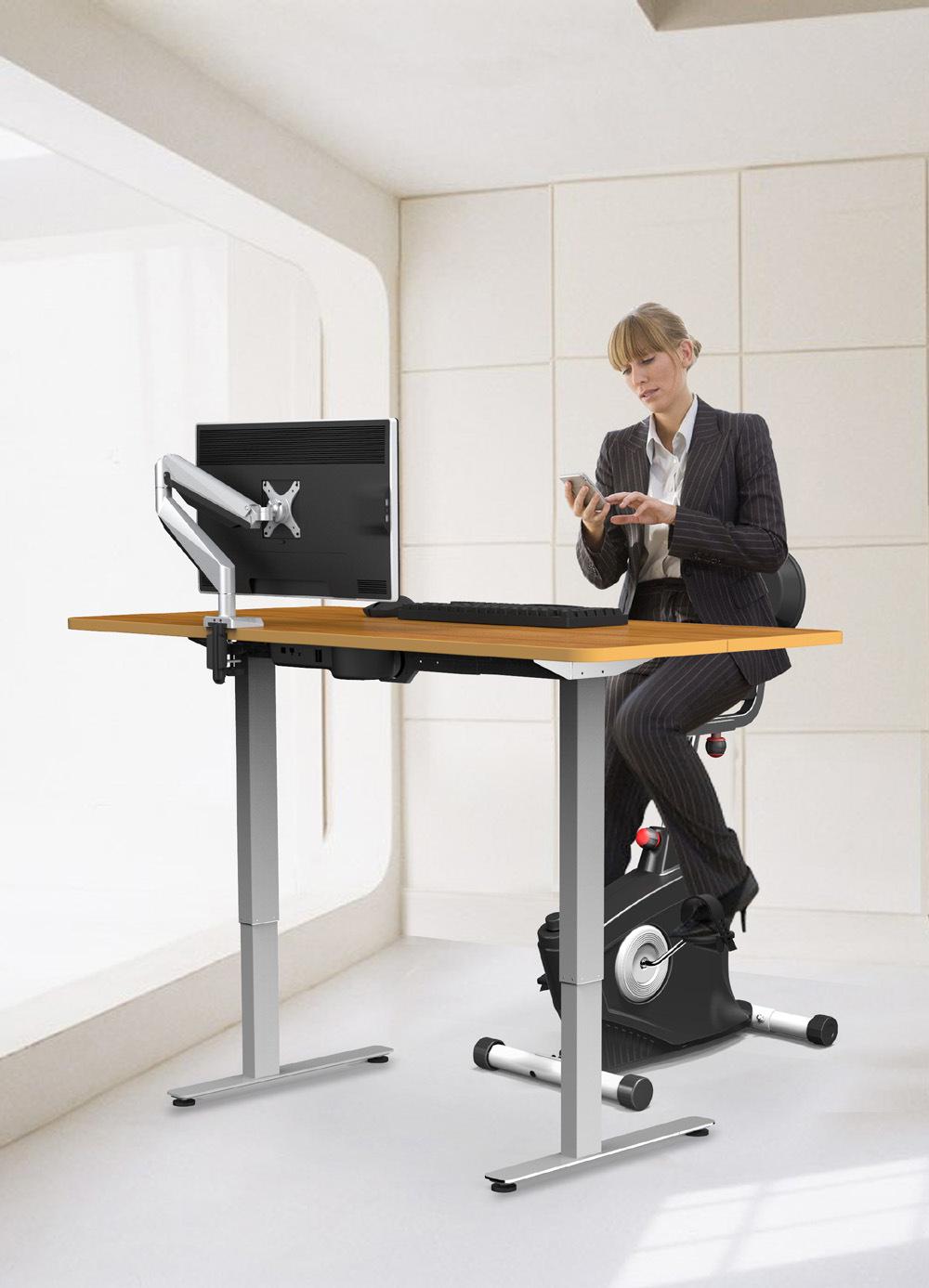 China New Office Wellness Under Desk Exercise Upright Cycle Bike Exerciser