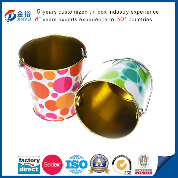 Round Shaped Pen Holder Tin Bucket pictures & photos