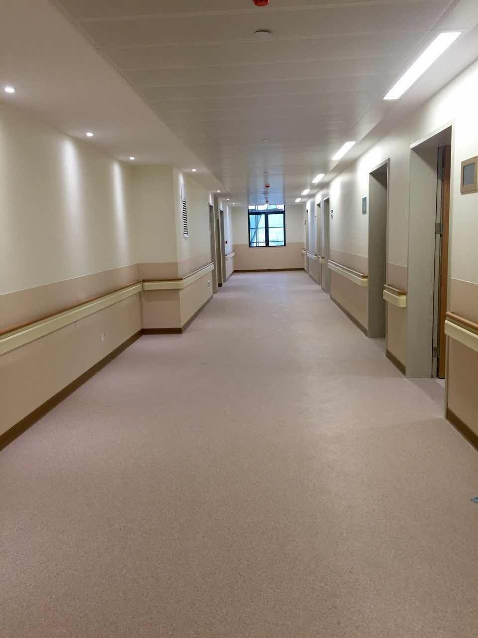 China Anti Collision Hospital Corridor Pvc Handrail Photos