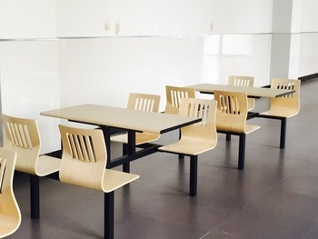China Cheap Steel Wood Attach Fast Food Restaurant Table And Chair - Restaurant table and chair sets