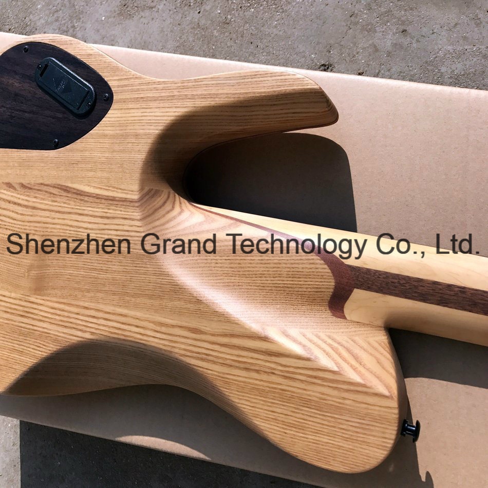 China 5 Strings Electric Bass Guitar With Ebony Fingerboard Active Pickup On An Or Acoustic Pickups Black Hardware Gb 20