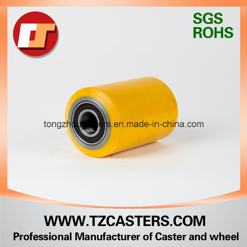 PU Roller with Cast Iron Rim 80*100