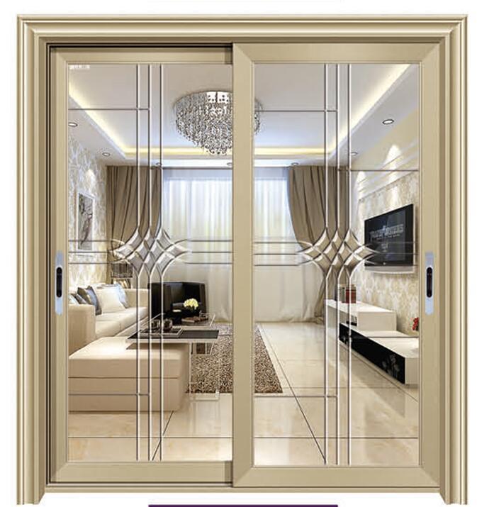 2 Panels Aluminium Sliding Door In Dining Room