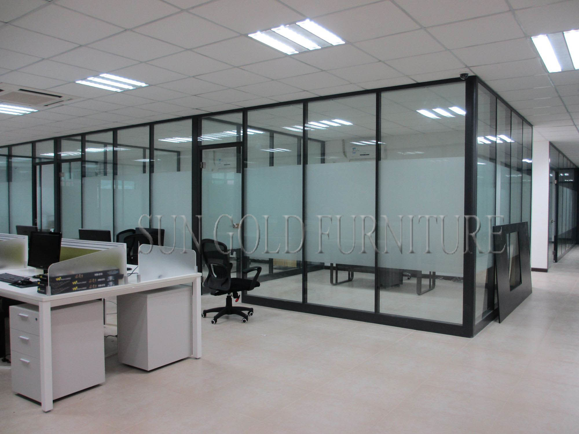 China Floor To Ceiling Fosted Glass Modern Demountable Office Partition Sz Ws577 Wall Operable