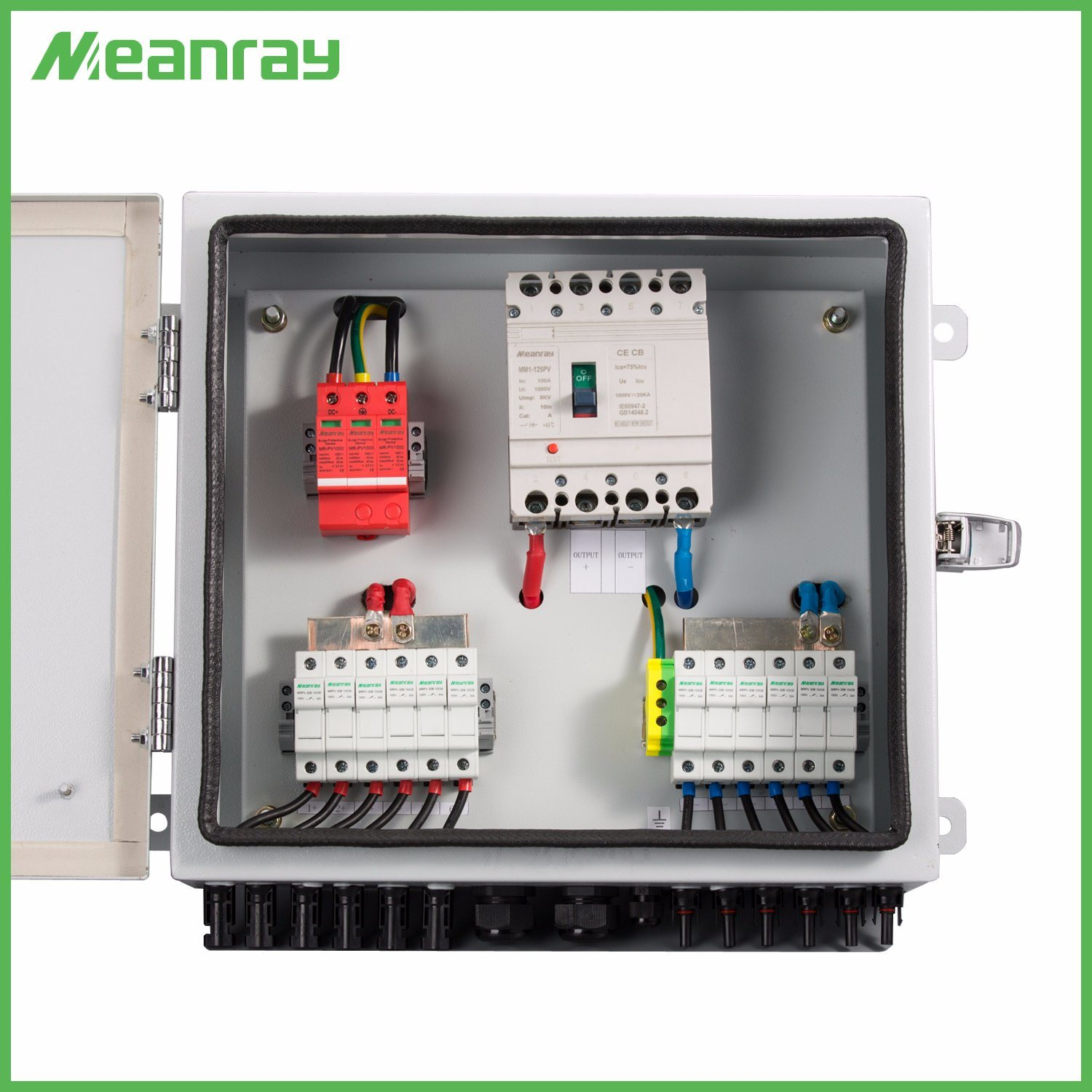China 6 Strings Solar PV Combiner Box 2-16ways with 600V SPD and 1000V 16A  Fuse - China 6 Stings Solar PV Combiner Box, Solar Lightning Protection  Monitoring | Pv Fuse Box |  | YUEQING MEANRAY ELECTRIC CO., LTD.