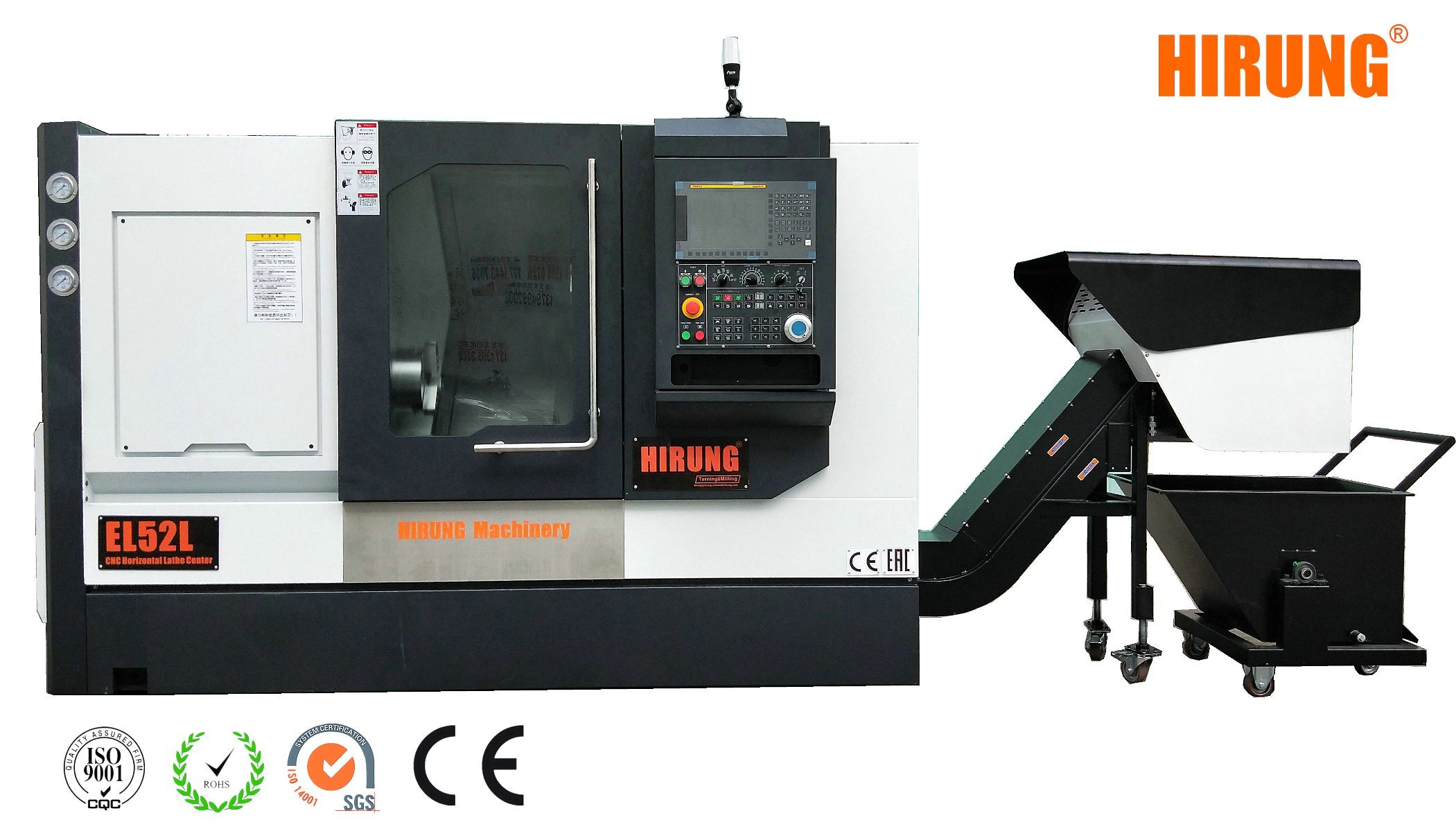 12 Tools Servo Turret CNC Horizontal Lathe Machine, CNC Turning Machinery  Center (EL52L)
