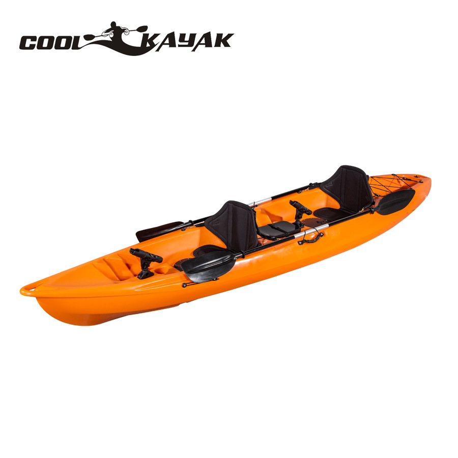 China Fashion Roto-Molded Double Kayaks 2 Person Fishing Kayak for
