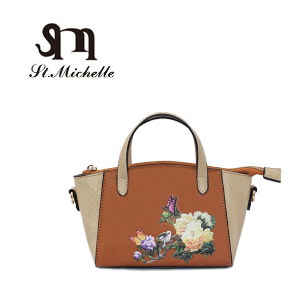 2017 Popular Wholesale Ladies Designer Handbag with Flower