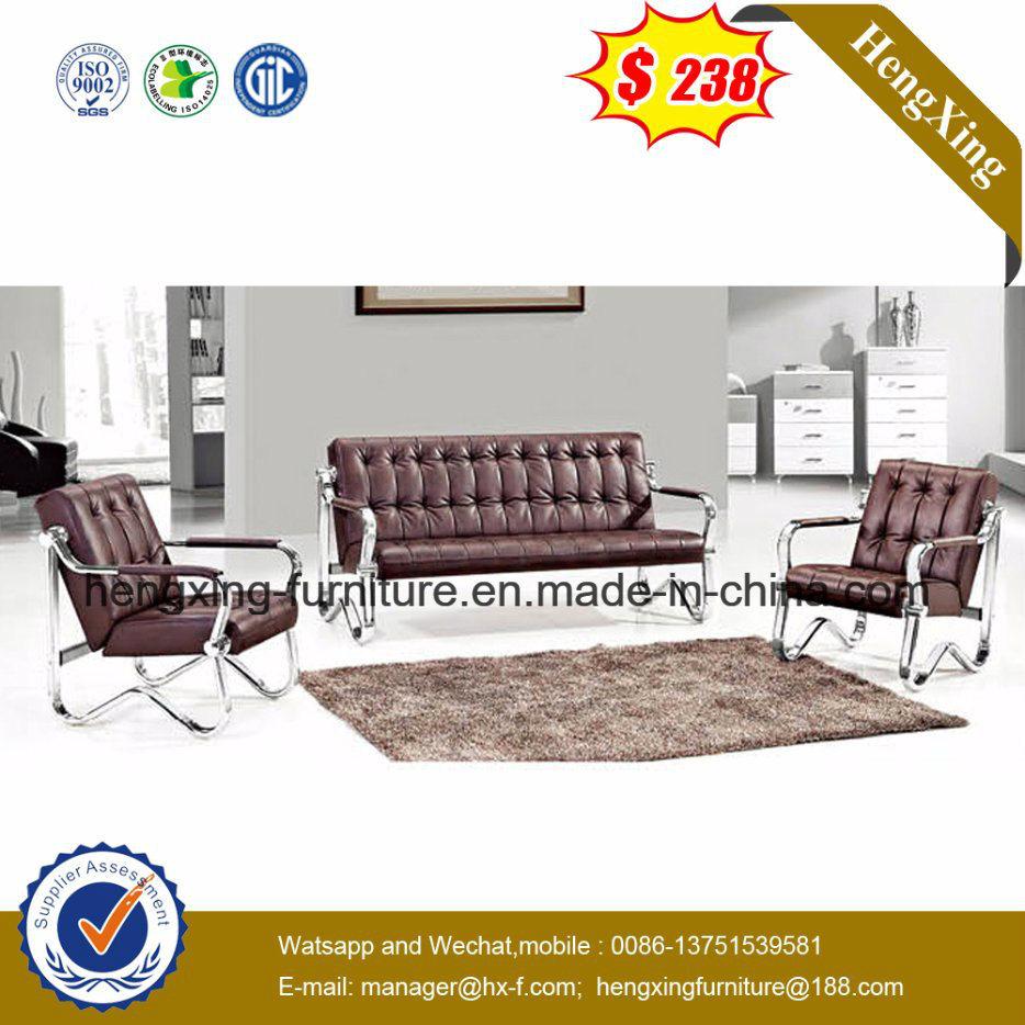 China Modern Simple Teak Color Leisure Office Leather Sofa Hx Cs101 Furniture Combination