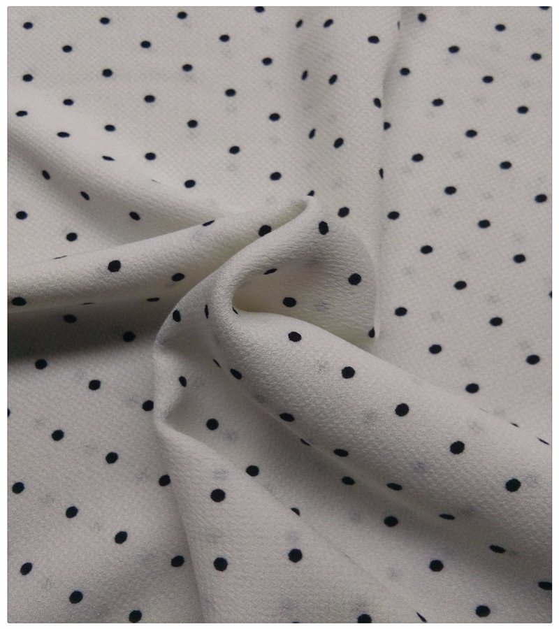 100% Polyester Elastic, Jacquard Fabric, Polka DOT Print pictures & photos