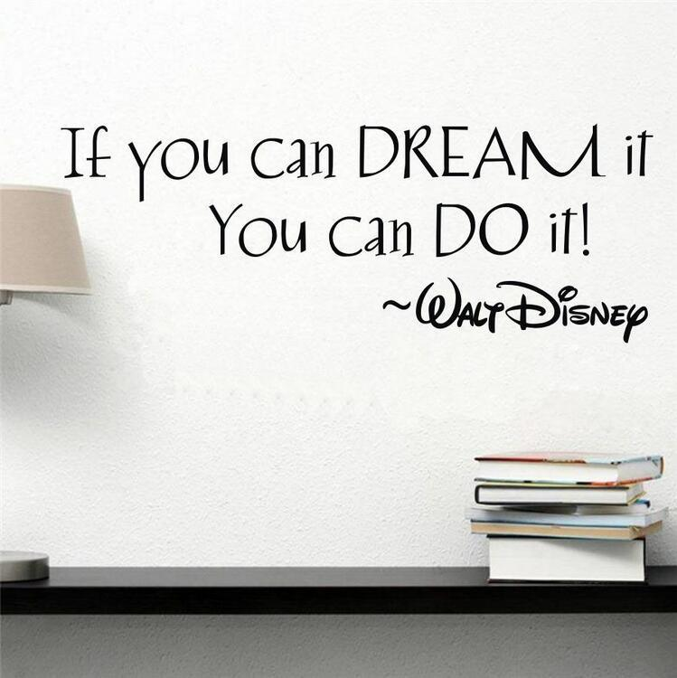"""/""""If you can dream it/"""" Disney Inspired Wall Art Decal Home Decor Stickers Vinyl"""
