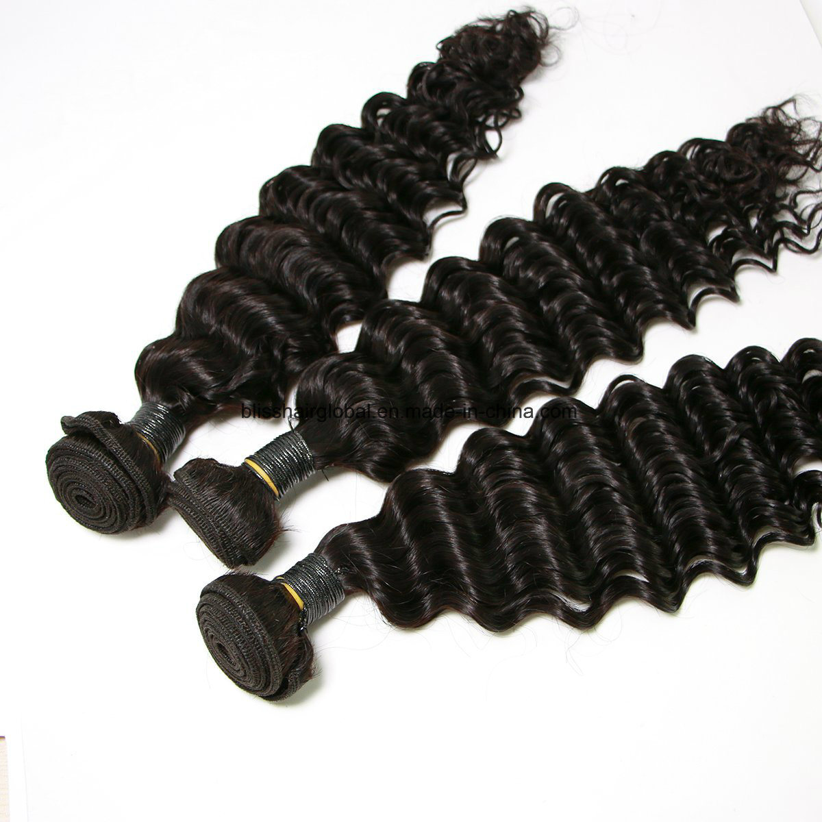 Brazilian Virgin Hair Deep Wave Three Pieces in a Pack pictures & photos