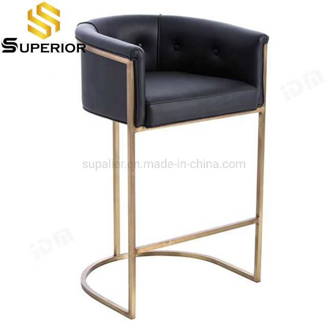 China High Quality Black Leather Bar Stools For Home Kitchen Furniture China Stainless Steel Bar Stool Bar Furniture Bar Chairs