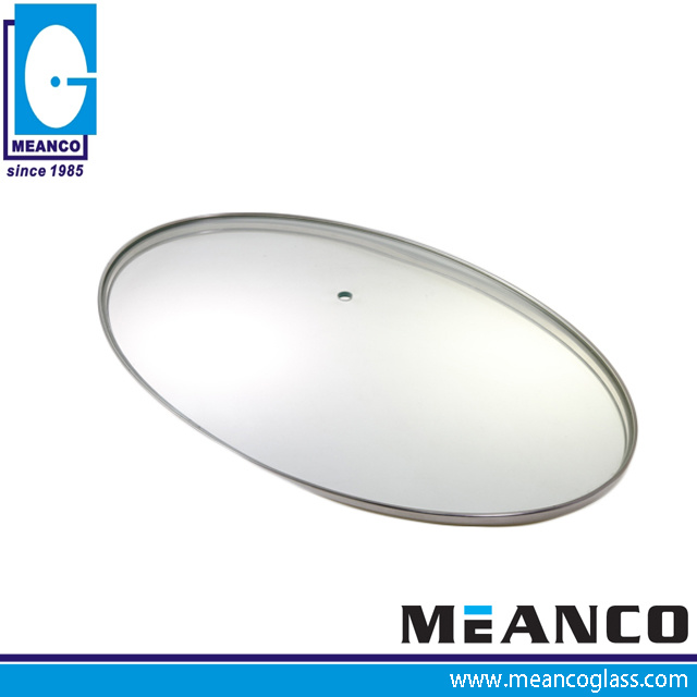 Oval Shape Cookware Parts Tempered Glass Fry Pan Cover pictures & photos
