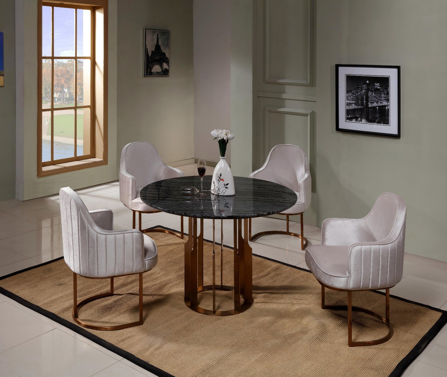 China Fashion Modern Home Coffee Table Chair Set Furniture Dining Room Sets One Table With 6 Chairs China Furniture Coffee Table