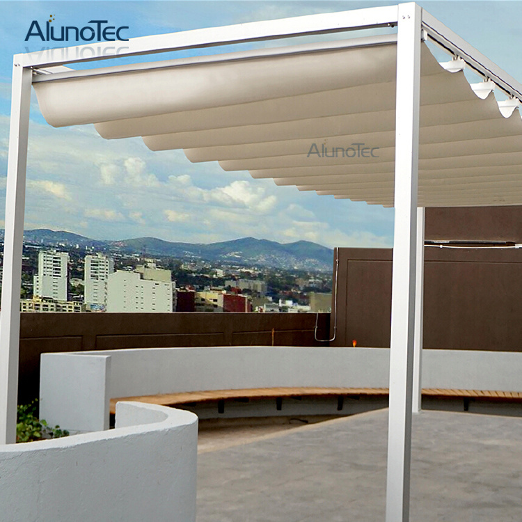 [Hot Item] Waterproof Retractable Roof Awnings with Aluminum Posts