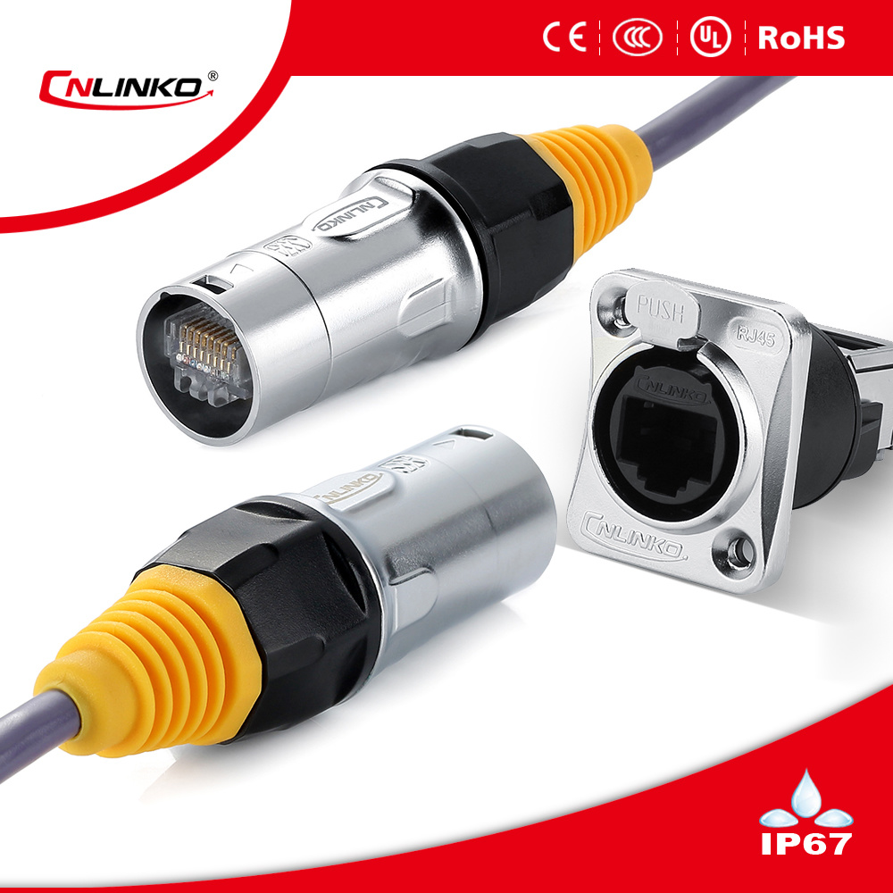 China Panel Mount Rj45 Metal Connector 8p8c Cat6 Wiring Double Socket Connectors Good Quality Plug