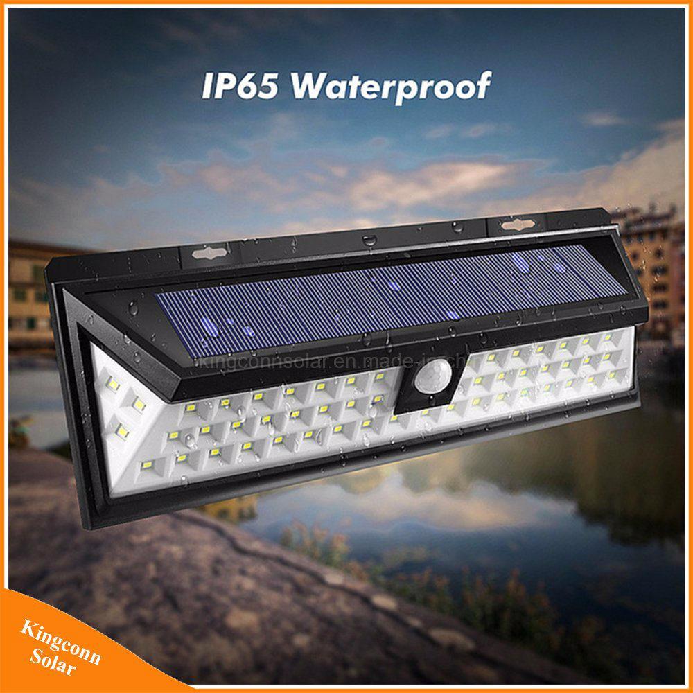 54 LED Solar Power Security Light Motion Sensor Outdoor Garden Wall Lamp