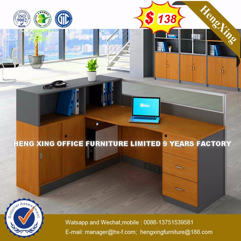 Modern Aluminum Glass Wooden Cubicle Workstation / Office Partition (HX-8N0168) pictures & photos