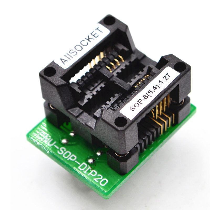 [Hot Item] Sop8-5 4-1 27 Sop8 Package Soic8 So8 Sop8 to DIP8 Chip Adapter  IC Burn-in Testing Socket 1 27mm Pitch 5 4mm Width (209mil) -Allsocket