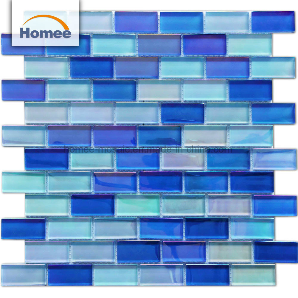 China Blue Crystal 300*300 Mosaic Glass Swimming Pool Tiles Price ...