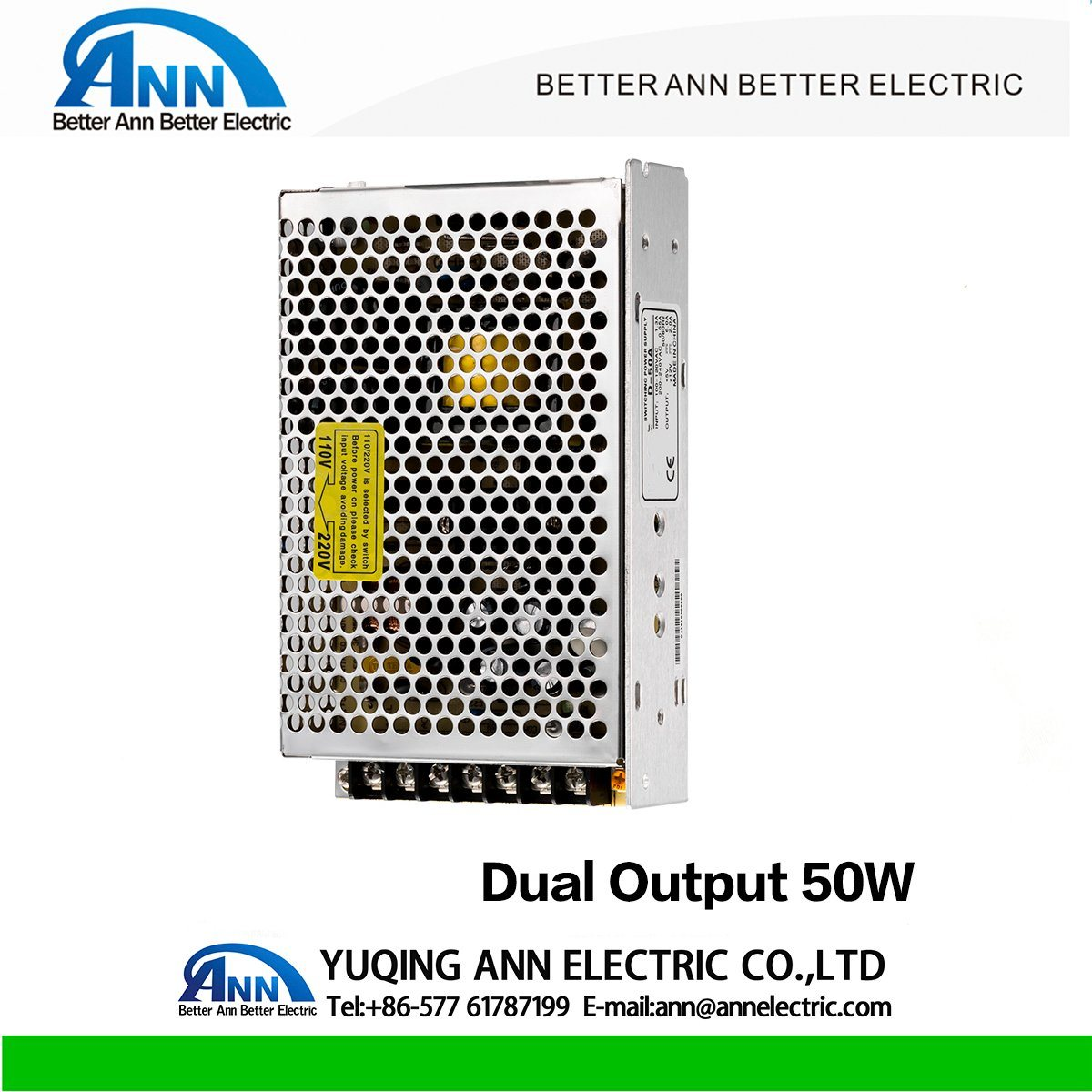 China D 50w Dual Output Cctv Led Switching Power Supply 24v 65a Single