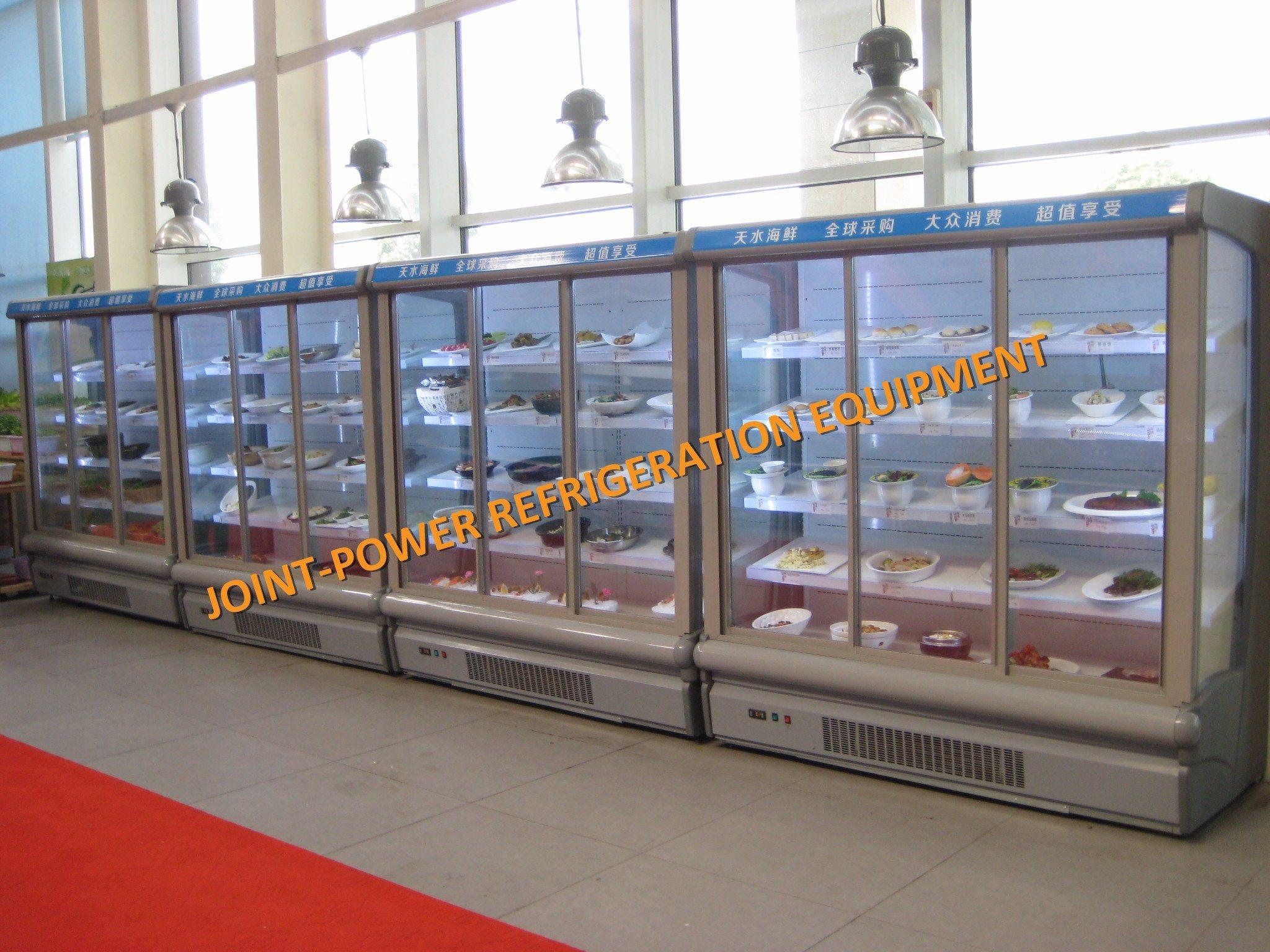 China New Product Glass Door Supermarket Multi Deck Open Chiller