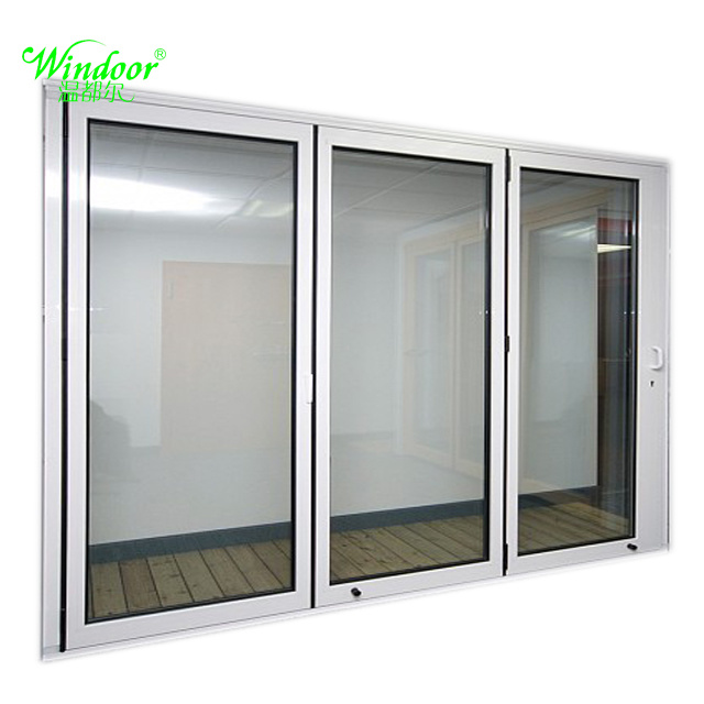 China Double Pane Door 2180mmx 1800mm Open Cave Outside Aluminum