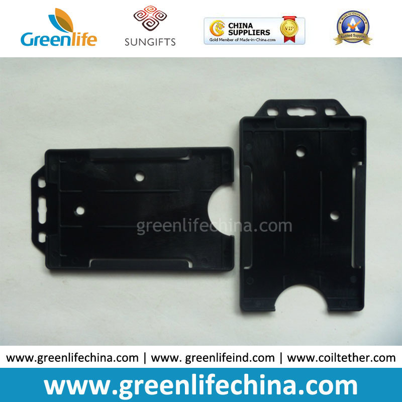 China Black Hard Plastic Card Case One-Side Open Business Card ...