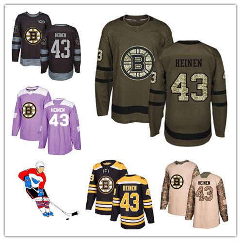 best sneakers 12786 17a58 China Men Women Youth Bruins Jerseys 43 Danton Heinen Hockey ...