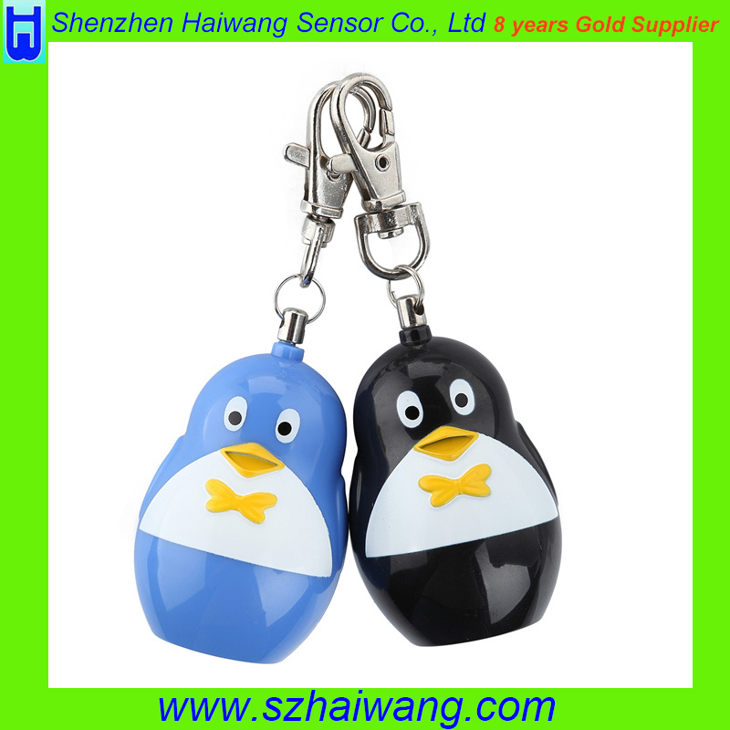 Ce RoHS 120dB Economic Keyring Penguin Shape Personal Alarm SA260