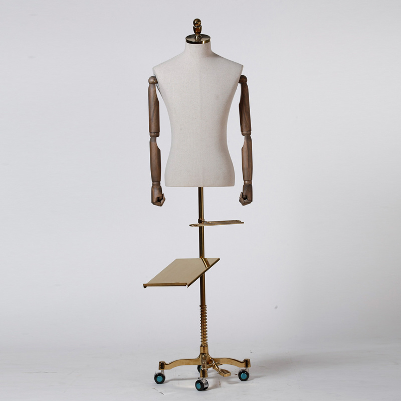 Fiberglass Male Torso Mannequin with Pants and Shoes Holder