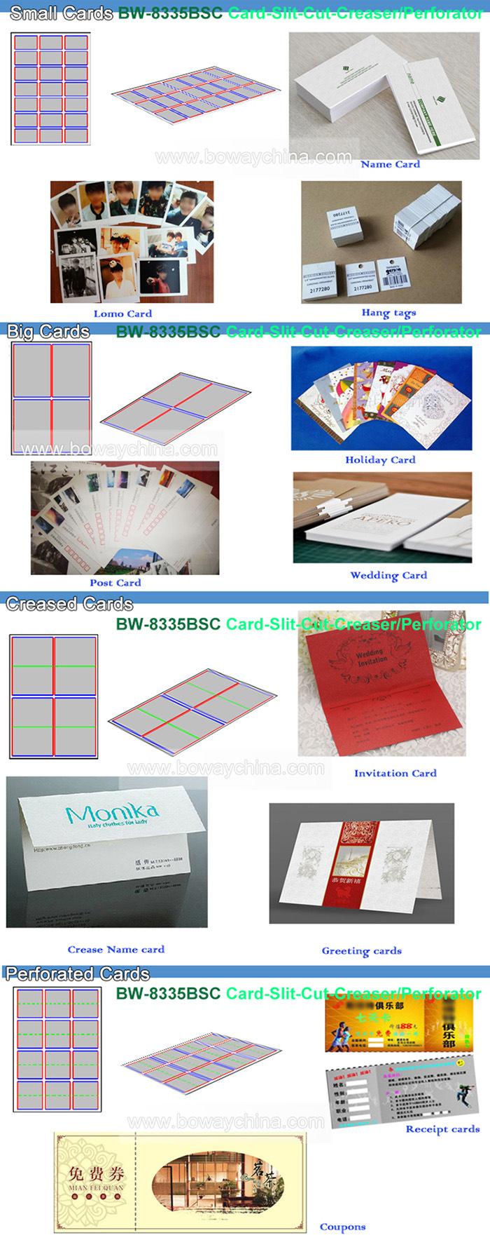 China Full Automatic A3 A4 Paper Namecard Cutting Slitting Creasing