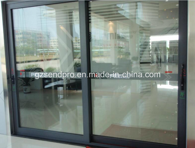 China Thermally Broken Aluminum Sliding Door With Tempered Glass