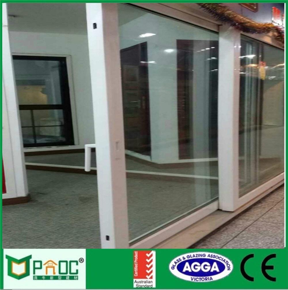 China Novel Design Aluminum Horizontal Sliding Glass Door With Low